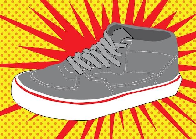Vecteur de la chaussure