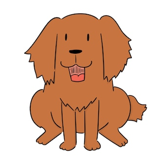 Vecteur de chien, golden retriever