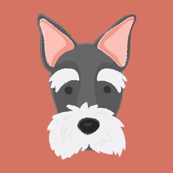 Vecteur de chien terrier écossais