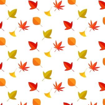 Vecteur chute automne feuilles.