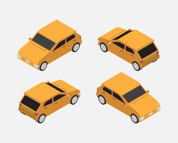 Vecteur classique isométrique de voiture de ville
