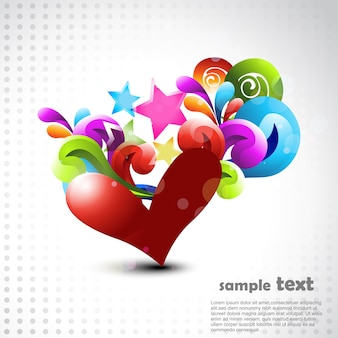 Vecteur coeur conception artistique illustration