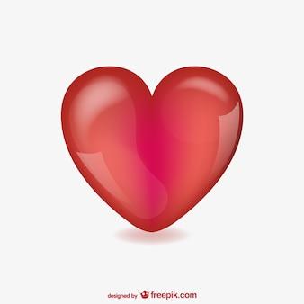 Vecteur de coeur vaporeux