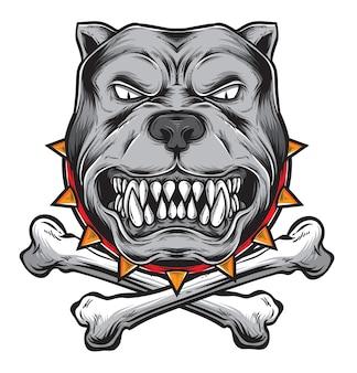 Vecteur de colère bulldog