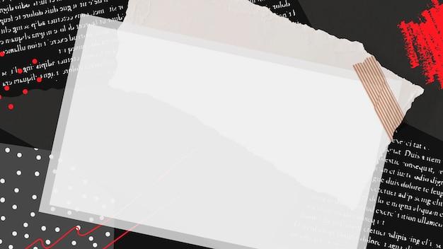 Vecteur de collage de cadre photo instantané vierge