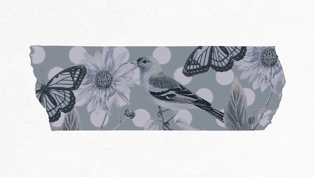 Vecteur de collage de ruban washi, autocollant de journal de balle bricolage imprimable