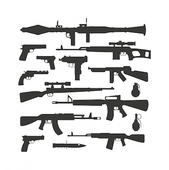 Vecteur de collection d'armes.