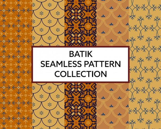 Vecteur de collection modèle sans couture de tissu batik