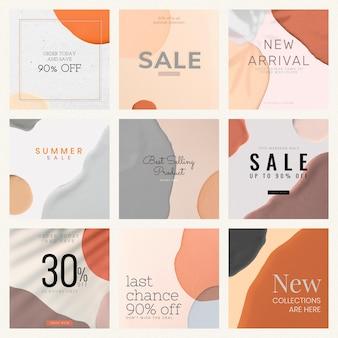 Vecteur de collection de modèles de vente de produits