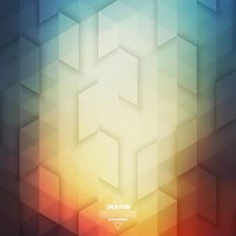 Vecteur coloré abstrait géométrique de la technologie