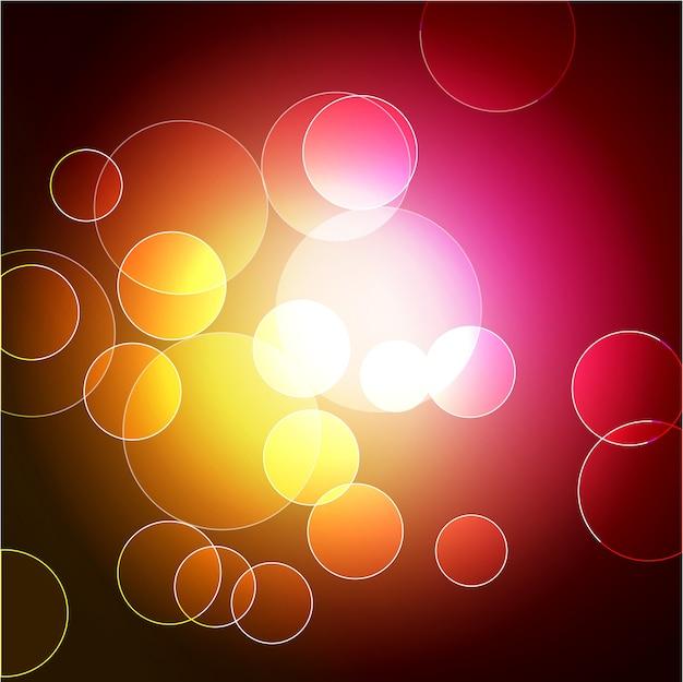 Vecteur coloré bokeh design art