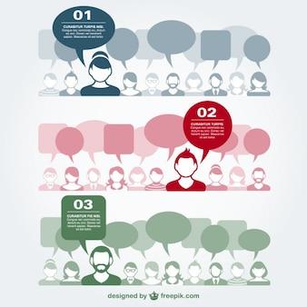 Vecteur de communication illustration plat