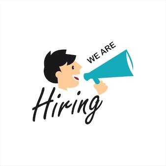 Vecteur de concept d'embauche et de recrutement d'entreprise