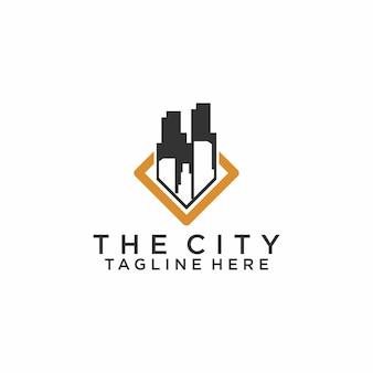 Vecteur de concept logo ville scape