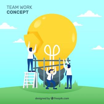 Vecteur de concept de travail d'équipe
