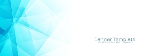 Vecteur de conception abstraite bannière géométrique bleu