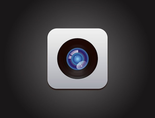 Vecteur de conception d'apple caméra