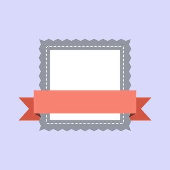 Vecteur de conception badge cadre pastel