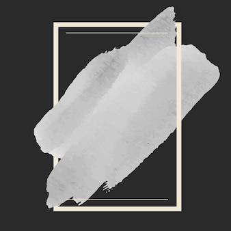 Vecteur de conception de bannière aquarelle gris