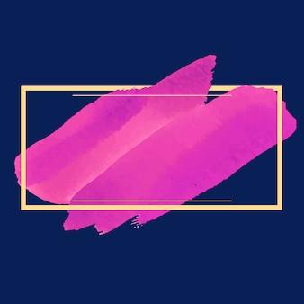 Vecteur de conception de bannière aquarelle magenta