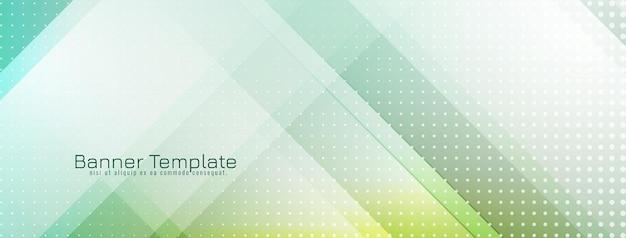 Vecteur de conception de bannière géométrique de couleur verte douce moderne