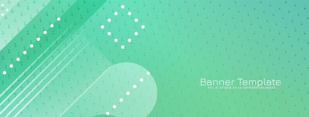 Vecteur de conception de bannière géométrique de couleur verte moderne