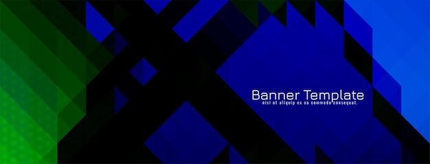 Vecteur de conception de bannière de modèle de mosaïque triangulaire géométrique abstrait