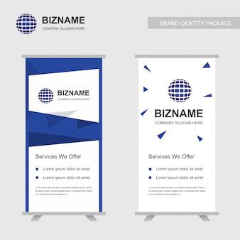 Vecteur de conception de bannières publicitaires entreprise