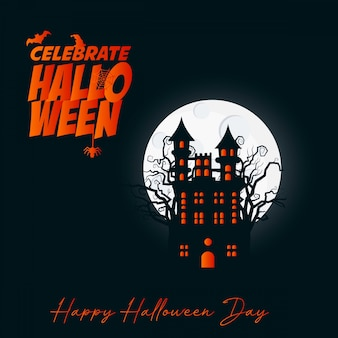 Vecteur de conception de brochure halloween heureux