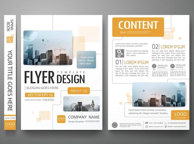 Vecteur de conception de brochure