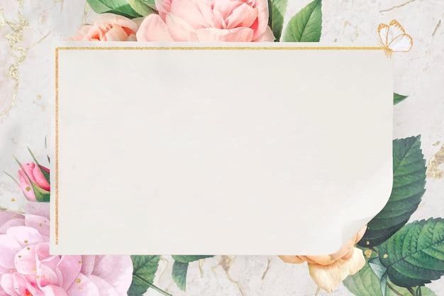Vecteur de conception de cadre doré floral