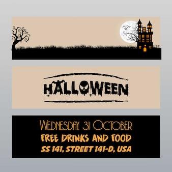Vecteur de conception de carte happy halloween invitation