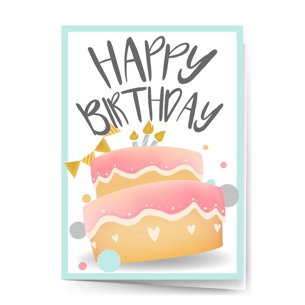 Vecteur de conception de carte joyeux anniversaire