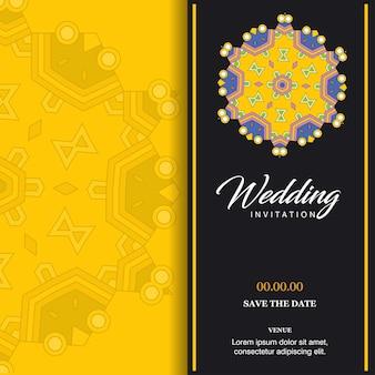 Vecteur de conception de cartes de mariage