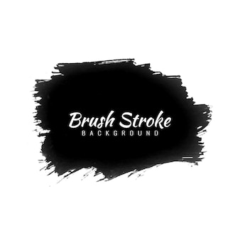 Vecteur de conception de coup de pinceau aquarelle noir dessiné à la main