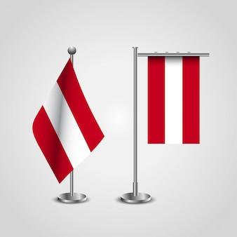 Vecteur de conception de drapeau autriche