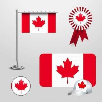 Vecteur de conception de drapeau canada