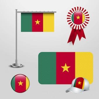 Vecteur de conception de drapeau du cameroun