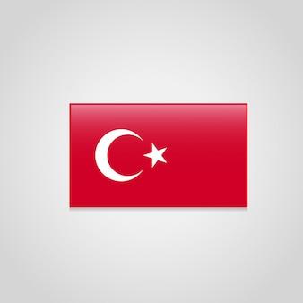 Vecteur de conception de drapeau turc
