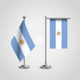 Vecteur de conception de drapeaux de l'argentine