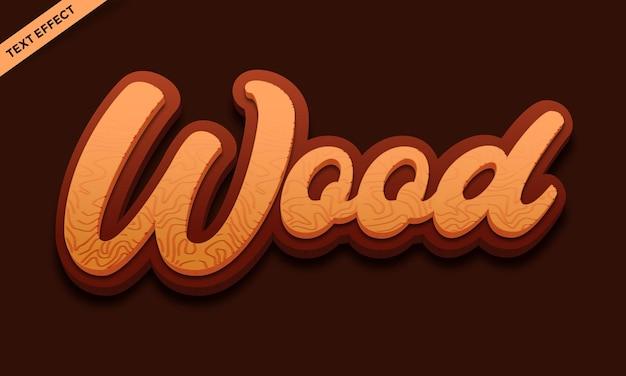 Vecteur de conception d'effet de texte en bois