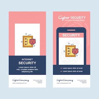 Vecteur de conception d'entreprise de cybersécurité