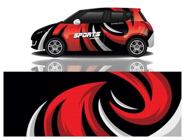 Vecteur de conception d'enveloppe de décalque de voiture de sport
