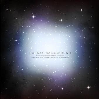 Vecteur de conception fond abstrait galaxie