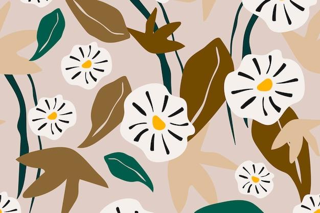 Vecteur de conception de fond esthétique fleur transparente motif