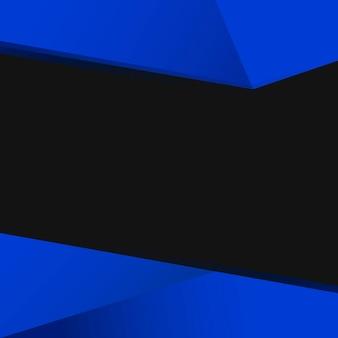Vecteur de conception fond géométrique bleu