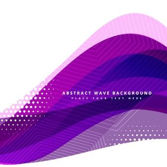 Vecteur de conception de fond ondulé violet