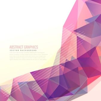 Vecteur de conception de fond violet abstraite