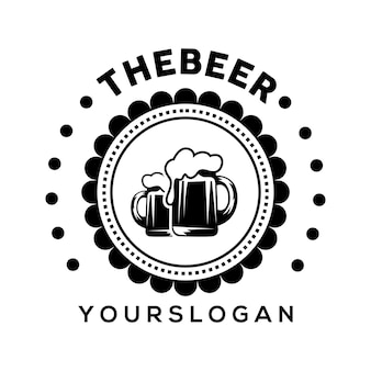 Vecteur de conception d'icône de logo de bière