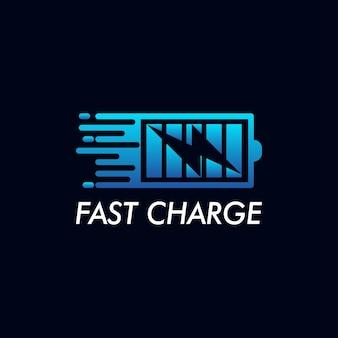 Vecteur de conception d'icône de logo de charge rapide